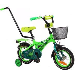 Rower dziecięcy ENERO Dino 12 cali dla chłopca Zielony