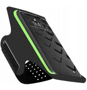 Etui TECH-PROTECT Armband G10 na ramię do 6.5 Cala Czarno-zielony