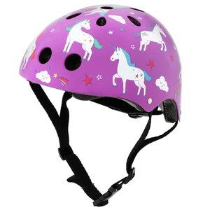 Kask rowerowy HORNIT Unicorn Fioletowy dla Dzieci (rozmiar M)