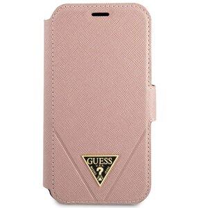 Etui GUESS Saffiano do iPhone 12 mini Różowy