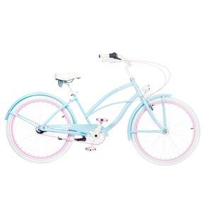Rower miejski PLUMBIKE La Donna Mia 7B 26 cali damski Błękitny