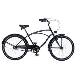 Rower miejski PLUMBIKE Rider Arrow 3B 26 cali męski Czarny