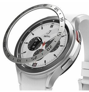 Nakładka RINGKE Bezel Styling do Samsung Galaxy Watch 4 Classic 46mm Srebrny
