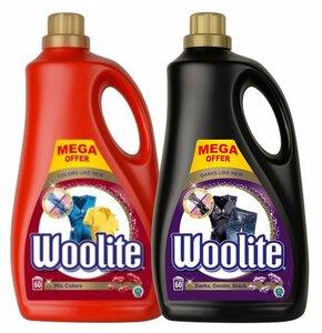 Płyn do prania WOOLITE Czarny 3600 ml + Płyn do prania WOOLITE Kolor 3600 ml