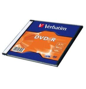 Płyta VERBATIM DVD-R 4.7GB 16x Slim