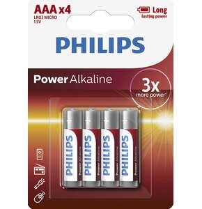 Baterie AAA LR3 PHILIPS Power Alkaline (4 szt.)