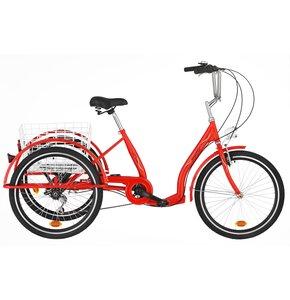 Rower trójkołowy DAWSTAR Sewilla 6B 24 cale damski Czerwony