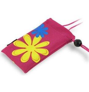 Etui 4WORLD Pocket Flower Różowy