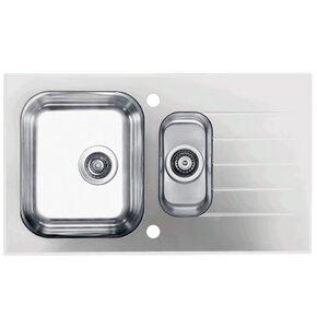 Zlewozmywak ALVEUS Glassix 20 POP-UP 3 1/2 1100016 Satyna-biały