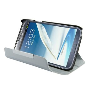 Etui 4WORLD 09137 do Samsung Galaxy Note 2 Rotary Szary