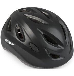 Kask rowerowy BEST City Czarny Miejski (rozmiar M)