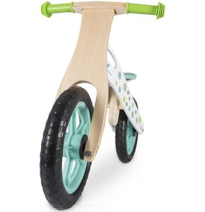 Rowerek biegowy INDIANA drewniany Zielony