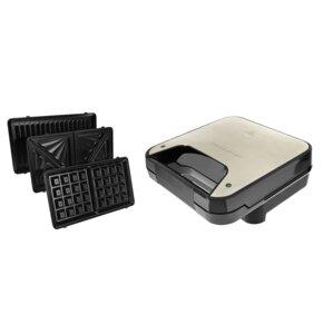 Opiekacz GÖTZE & JENSEN SM531X Inox 750W 3w1 wymienne płytki gofry grill