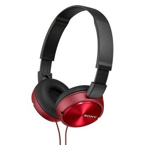 Słuchawki nauszne SONY MDRZX310R.AE Czerwony