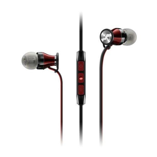 Słuchawki dokanałowe SENNHEISER Momentum In Ear I z mikrofonem Czarno-czerwony