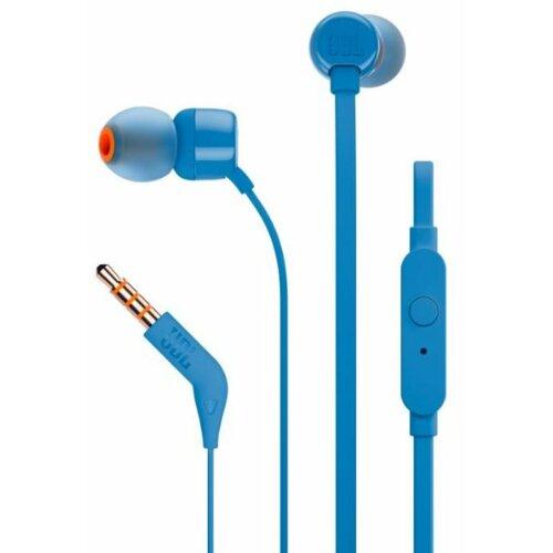 Słuchawki dokanałowe JBL T110 z mikrofonem Niebieski