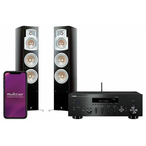 Zestaw stereo YAMAHA MusicCast R-N602 Czarny + YAMAHA NS-555 Czarny