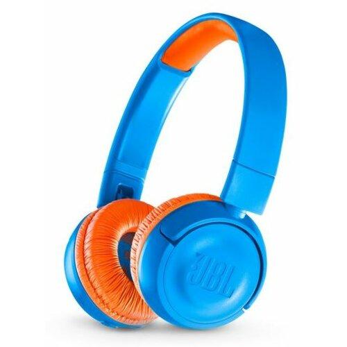 Słuchawki nauszne JBL Junior JR300BT dla dzieci Niebiesko-pomarańczowy
