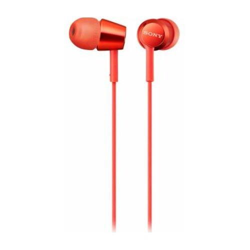 Słuchawki dokanałowe SONY MDREX155APR Czerwony