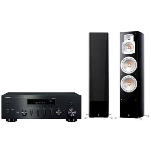 Zestaw stereo YAMAHA MusicCast R-N602 Czarny + YAMAHA NS-777 Czarny