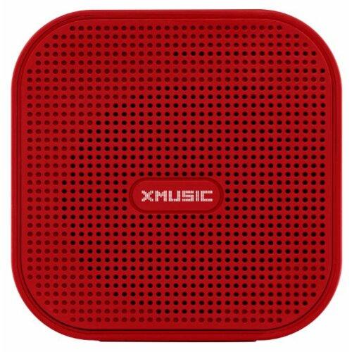 Głośnik mobilny XMUSIC BTS300R Czerwony Bluetooth slot na kartę pamięci