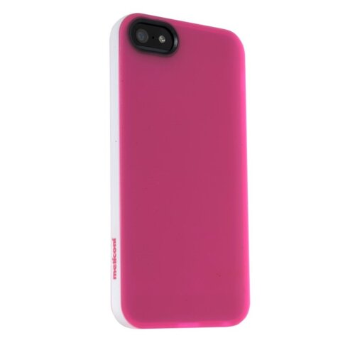 Etui MELICONI Jumper do Apple iPhone 5S/5 Biało-różowy