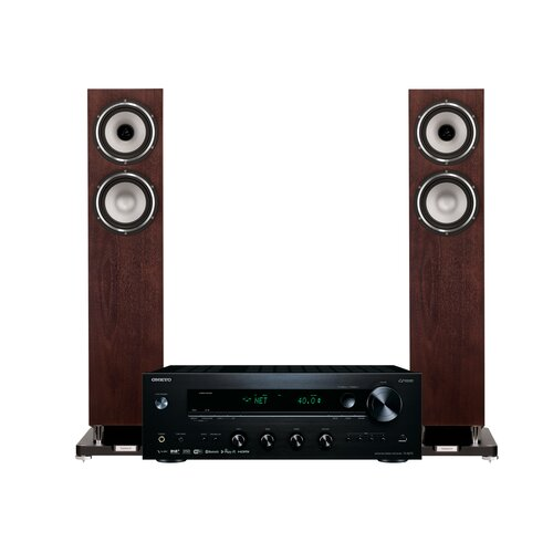 Zestaw stereo ONKYO TX-8270 Czarny + TANNOY Revolution XT 6F Orzech