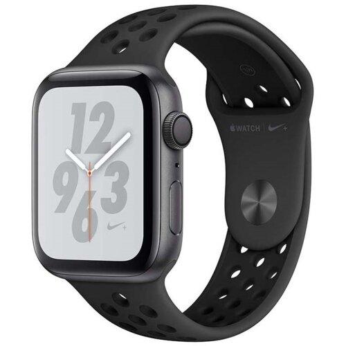 APPLE Watch 4 Nike+ 44mm (Gwiezdna szarość z opaską sportową w kolorze czarnym)