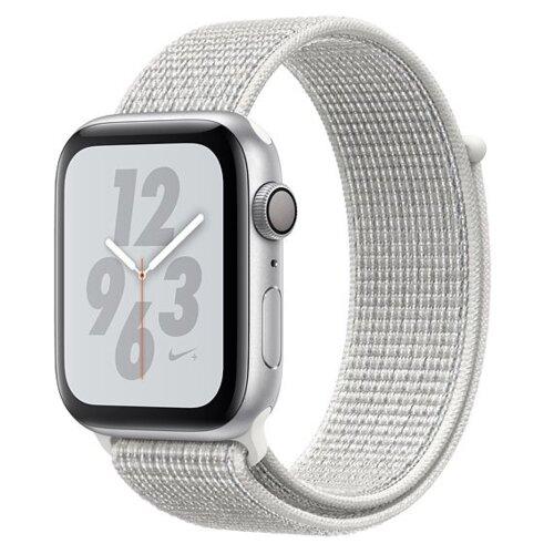 APPLE Watch 4 Nike+ 40mm (Srebrny z opaską sportową w kolorze białym)