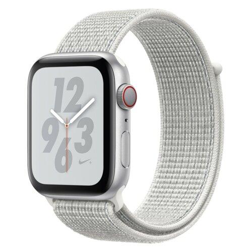 APPLE Watch 4 Nike+ 44mm (Srebrny z opaską sportową w kolorze białym)