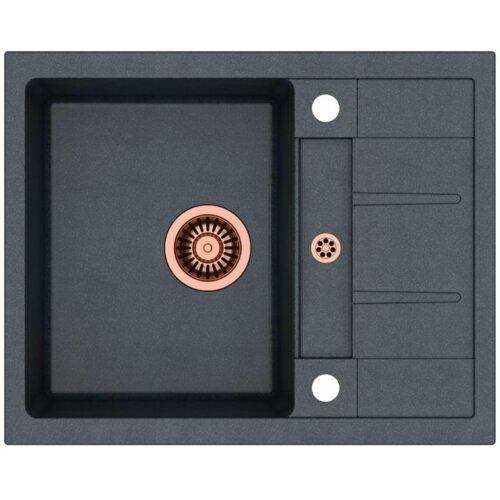Zlewozmywak QUADRON Morgan 116 HB8210U8C1-BW7002C1U8 Czarny metalik + bateria Ingrid