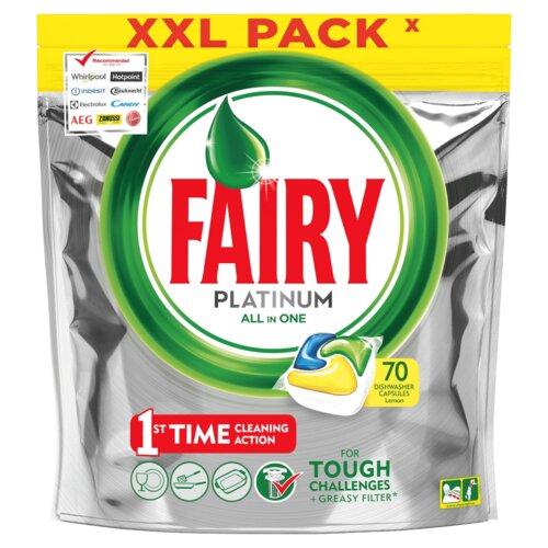 Kapsułki do zmywarek FAIRY Platinum All in One Lemon 70 szt.