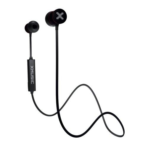 Słuchawki dokanałowe XMUSIC BTE601K Czarny Bluetooth etui