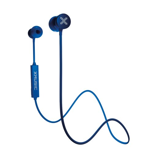Słuchawki dokanałowe XMUSIC BTE601B Niebieski Bluetooth etui