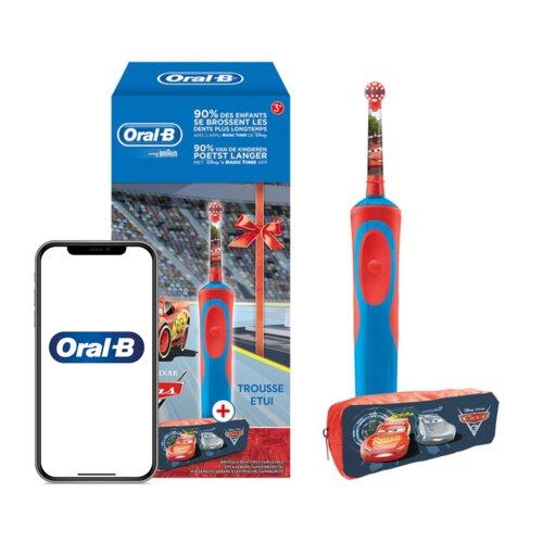 Szczoteczka rotacyjna ORAL-B Kids D12 Cars + Etui