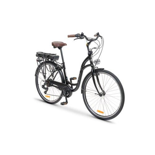 Rower elektryczny INDIANA E-City D17 28 cali damski Czarny