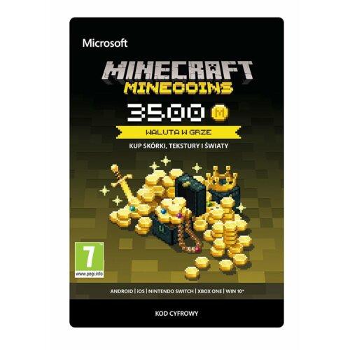 Kod aktywacyjny MICROSOFT Minecraft Minecoins 3500 monet