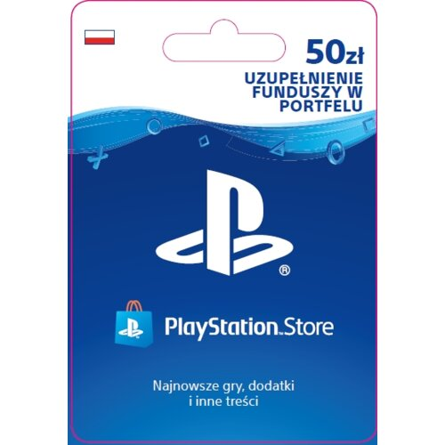 Kod aktywacyjny SONY PlayStation Network 50 zł