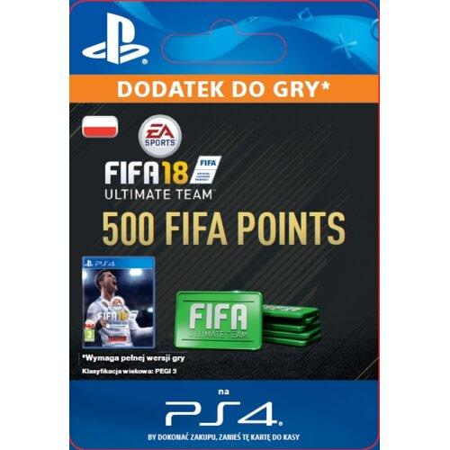 Kod aktywacyjny FIFA 18 Ultimate Team - 500 punktów