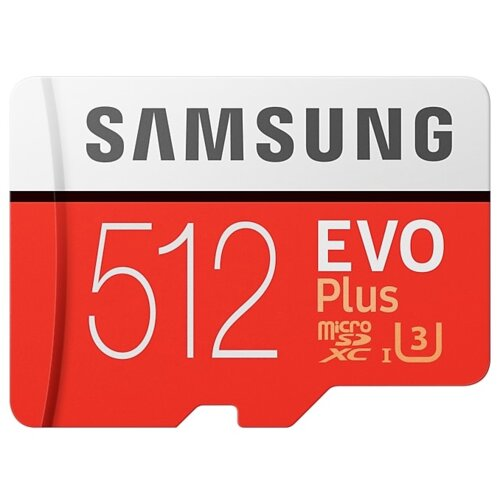 Karta pamięci SAMSUNG Evo Plus microSDXC 512GB + Adapter