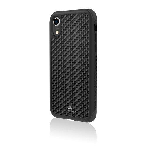 Etui BLACK ROCK Robust Real Carbon do Apple iPhone Xr Czarny