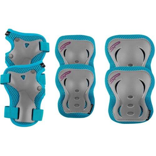 Ochraniacze SPOKEY Shield Szaro-niebieski (rozmiar L)