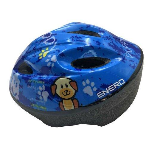 Kask rowerowy ENERO Puppy Niebieski dla Dzieci (rozmiar L)
