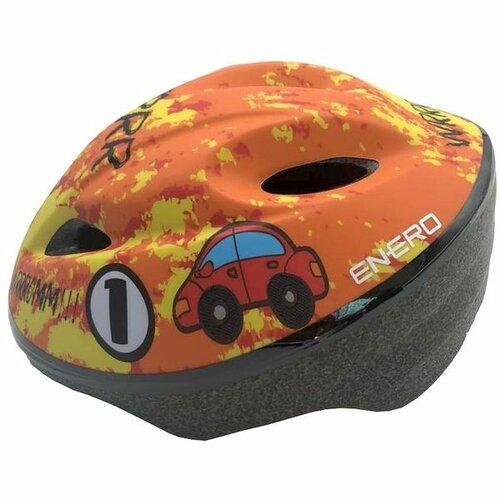 Kaskrowerowy ENERO Car Pomarańczowy dla dzieci (rozmiar L)