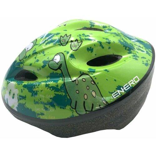 Kaskrowerowy ENERO Dino Zielony dla dzieci (rozmiar S)