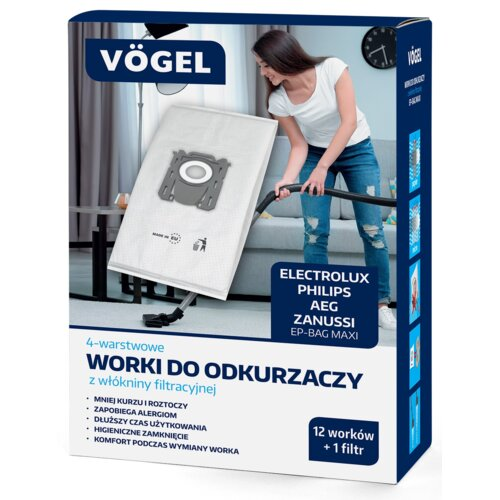 Worek do odkurzacza VÖGEL EP-Bag Maxi (12 sztuk)