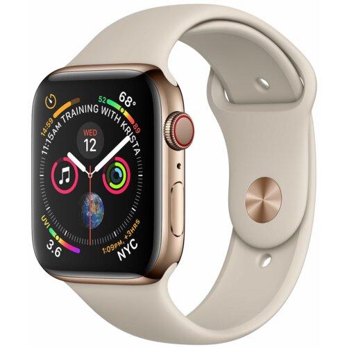 APPLE Watch 4 Cellular 44mm (Złoty z opaską sportową w kolorze piaskowca)