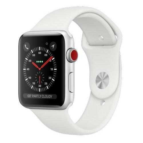 APPLE Watch 3 Cellular 42mm (Srebrny z opaską sportową w kolorze białym)