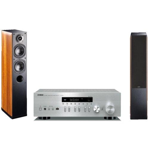 Zestaw stereo YAMAHA R-N402D SR + INDIANA LINE Nota 550 Orzech