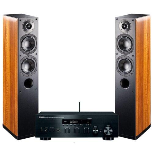 Zestaw stereo YAMAHA R-N402D BL + INDIANA LINE Nota 550 Orzech